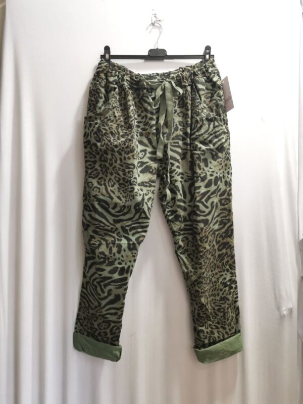 Leopard pants i Army Farver